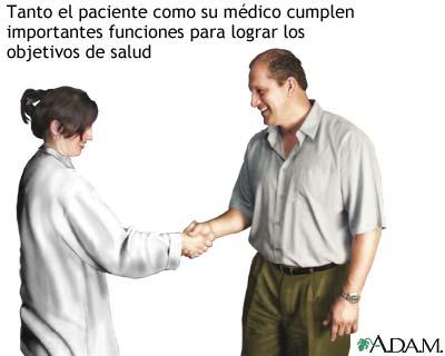 Paciente y médico: trabajo en equipo