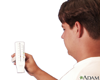 Uso del medidor de flujo espiratorio máximo (Séptima parte)