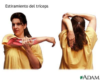 Estiramiento del tríceps