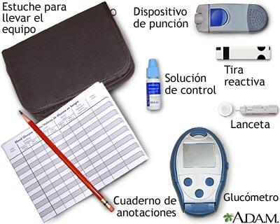 Medición del nivel de glucosa en la sangre: Uso de un glucómetro para autoexamen