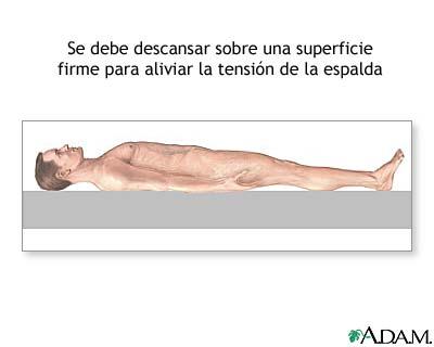 Tratamiento para espalda lesionada