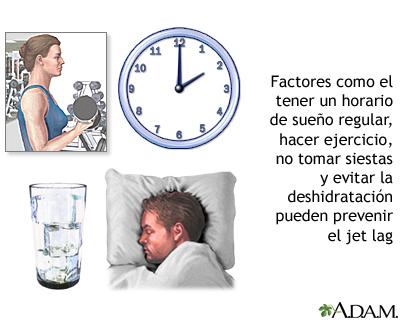 Prevención del jet lag