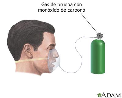 Prueba de difusión pulmonar